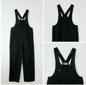 Urban Outfitters Black Camille Linen Overalls size large