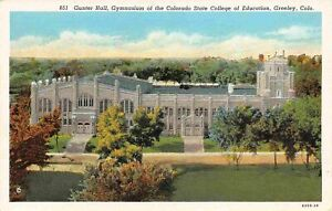 Gymnasium State Teachers College University Northern Colorado Greeley postcard