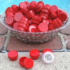 50 .25oz Mini Red Jars Pot posh Makeup Container #3301 Meds 1/4oz Usa DecoJars