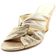 Nine West Kessie Women US 8 Gold Wedge Heel 2666