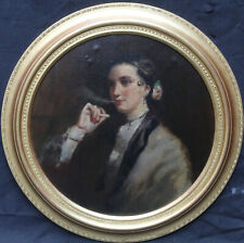 EDWIN LONG BRITISH VICTORIAN PORTRAIT OIL PAINTING MATILDA WETHERALL SMOKING ART
