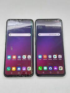 LG V40 ThinQ LMV405UA - 64GB - Aurora Black (AT&T) *Check IMEI* *Lot of 2*