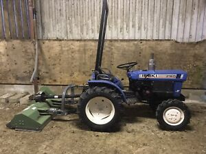 ISEKI 2160 4x4 Compact Tractor and Flail Mower - Garden Tractor