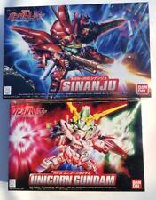 Bandai Gundam set SD MSN-06S Sinanju BB#365 & SD Rx-0 Unicorn Gundam BB#360 USA