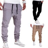 Men's Jogger Dance Sportwear Baggy Harem Pants Casual Slacks Trousers Sweatpants