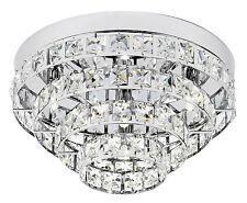 Endon Motown chasse lumière plafond 4x 33W effet chromé & cristal clair k5 glass