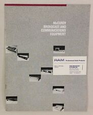 1988 McCurdy Broadcast and Communications Equipment Catalog, 6 pp