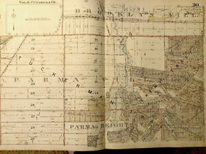 1924 Spencer Sharples Harding /& Waterville Townships Lucas County Ohio Atlas Map Reproduction