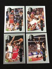 4 MICHAEL JORDAN MINI 1998 UPPER DECK CHICAGO BULLS STICKERS BASKETBALL CARDS