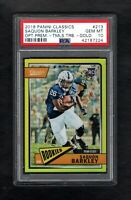 2018 Panini Classics #213 SAQUON BARKLEY RC /65 OP-Timeless Tribute-Gold PSA 10