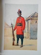 ANTIQUAIRE armée indienne Imprimé (1911) 22nd PUNJABIS Awan de Shahpur, Major Lovett
