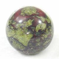 EPIC GEMS- 40mm sphere ball natural Dragon blood gemstone jasper-quartz crystal