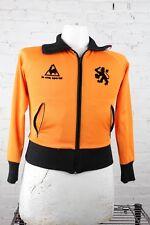 """Le Coq Sportif Men's """"Nederland"""" Polyester Fullzip Orange Track Jacket S"""