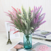 25 Head/Bunch Artificial Lavender Flower Bridal Bouquet Wedding Party Home Decor