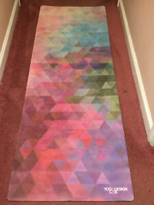 "Yoga Design Mat (Pink/Multi-Colored) 69"" x 24.5"""
