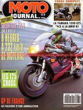 MOTO JOURNAL 1065 SUZUKI GSX-R 750 RM 125 BMW K1 YAMAHA GTS 1000 NORTON KTM 125