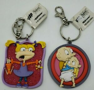 Rugrats Tommy & Angelica 1999 Viacom Keychains New NWT vintage Applause