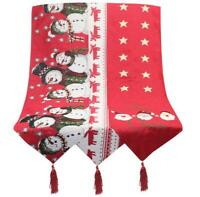 US! Christmas Table Runner Tablecloth Cover Home Xmas Party Table Decor
