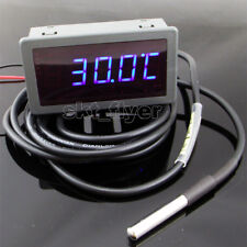 1pcs 2m F/C Blue LED Digital Car Water Temp Meter Gauge Thermometer DS18B20
