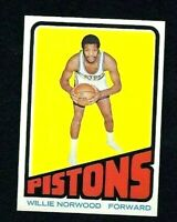 NM 1972 Topps Basketball #94 Willie Norwood RC.