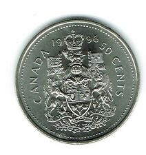 1996 Canadian Brilliant Uncirculated Fifty Cent coin!
