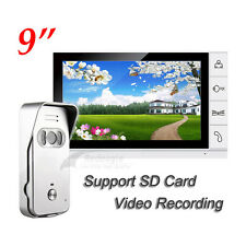 9 inch Wired Video door phone Intercom System Support MAX. 32G SD Card Recording