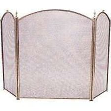 NEW HOMEBASIX 0360180 3 PANEL POLISHED BRASS STOVE FIREPLACE SCREEN  32 X 52