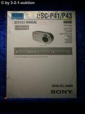 Sony Service Manual DSC P41 /P43 Level 1 Digital Still Camera (#6235)