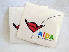 2x AIDA Aufkleber mit Kussmund für AIDA Fans