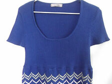 TEMT Womens Blue knitted Dress size S