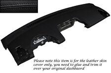 Black stitch cuir peau de couverture Dash fits SMART FORTWO PASSION ville 451 07-10