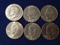 "1971 1972 1974 1976 1977 1978 P or D Eisenhower - ""IKE SILVER DOLLAR"" - Choose 1"