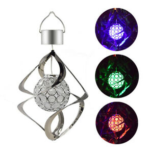 Solar LED Color ChangingWind Chimes Home Garden Yard Decor Light Lamp