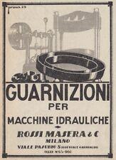 Z3681 Guarnizioni ROSSI MASERA - Pubblicità d'epoca - 1928 vintage advertising