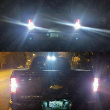 6pc White Reverse Cargo License Plate Light Bulbs For 2016 2017 Silverado Sierra