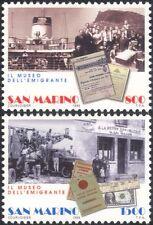 San Marino 1998 Emigrants/Ship/Lorry/Money/Passport/Transport/People 2v (n44932)