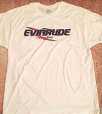EVINRUDE Outboards WHITE T-SHIRT XXX-LARGE With Sticker Pair DECAL White Boat