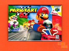 "N64 Mario Kart box art 2x3"" fridge/locker magnet Nintendo 64 console"