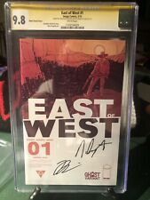 East of West #1 Ghost Variant CGC 9.8 2013 Signed By Hickman And Dragotta