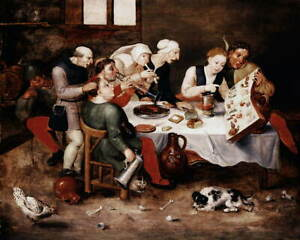Hieronymus Bosch The Bacchus Singers Poster Reproduction Giclee Canvas Print