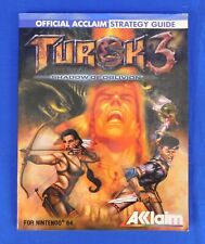 Turok 3 Shadow of Oblivion Official Acclaim Strategy Guide for Nintendo 64
