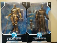 DC Multiverse Mcfarlane Gold Chase Arkham Batman  and Chase Deathstroke