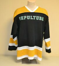Vintage 90's Sepultura Hockey Jersey Brazilian Metal Size XL USED
