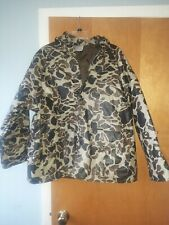 Duck Bay Camouflage PVC Jacket  With Foam Padding and Nylon Lining Hooded Large