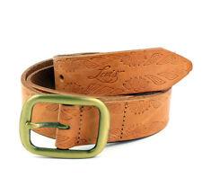 Levi´s Leder Gürtel 221428 hellbraun Leather Belt Größe 85 cm (Breite 3 cm)