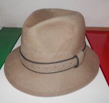 Cappello BORSALINO originale feltro sabbia Italy Albi Sondrio Fedora mis sz  57 72833a045423