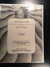 BOB HOPE LEMON DROP KID SILVER BELLS Sheet Music 1950 Paramount Professional Use