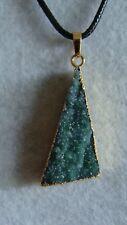 Birthstone Druzy Agate Stone Pendant With Leather Necklace Gemstone J404