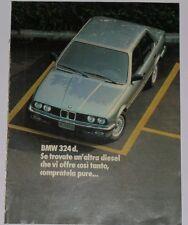 Advert Pubblicità 1986 BMW 324 d SERIE 3 E30 / 524 td SERIE 5 E28