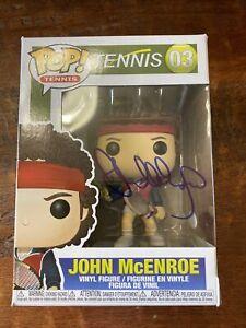 John McEnroe Signed Funko POP Psa Dna Coa Autographed Tennis